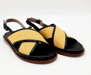 Sandalo incrociato nude e nero Le Petite Maison