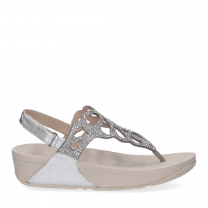 Fitflop Bumble Crystal sandal silver-2