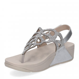 Fitflop Bumble Crystal sandal silver-4