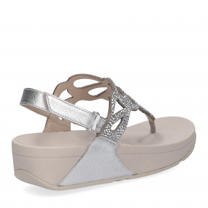 Fitflop Bumble Crystal sandal silver-5