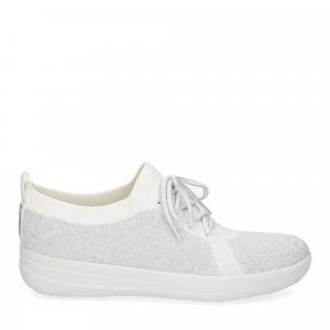Fitflop F-Sporty uberknit sneaker white metallic silver-2