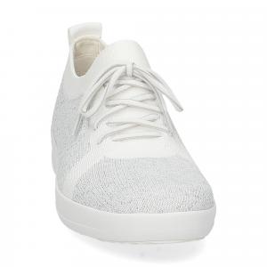 Fitflop F-Sporty uberknit sneaker white metallic silver-3