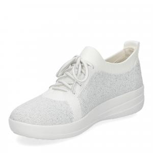 Fitflop F-Sporty uberknit sneaker white metallic silver-4