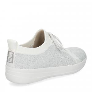 Fitflop F-Sporty uberknit sneaker white metallic silver-5