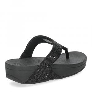 Fitflop Lulu glitter toe thongs black-5