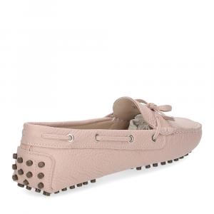 Il Laccio mocassino gommini 2200 pelle martellata rosa-5