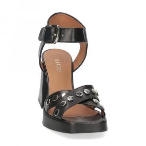 Il Laccio sandalo A1208 in pelle nera-3