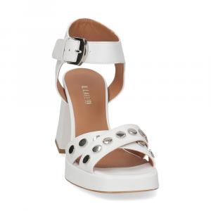 Il Laccio sandalo A1208 in pelle bianco-3