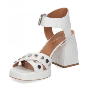Il Laccio sandalo A1208 in pelle bianco-4