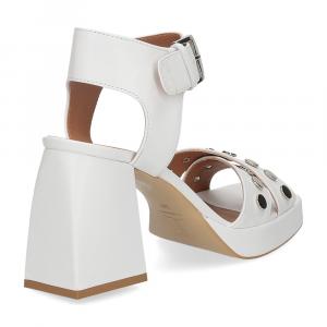 Il Laccio sandalo A1208 in pelle bianco-5