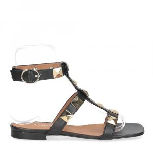 Il Laccio sandalo C108 pelle nero-2