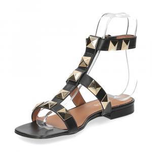 Il Laccio sandalo C108 pelle nero-4