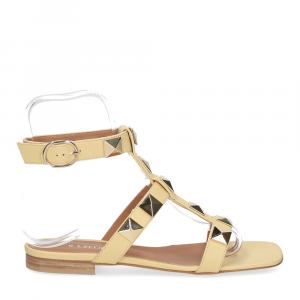 Il Laccio sandalo C108 pelle giallo-2