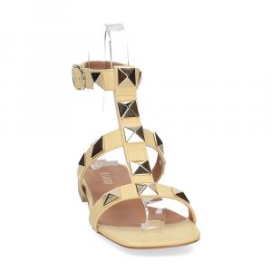 Il Laccio sandalo C108 pelle giallo-3