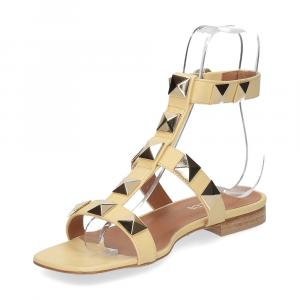 Il Laccio sandalo C108 pelle giallo-4