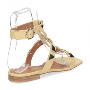 Il Laccio sandalo C108 pelle giallo-5
