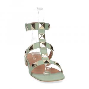 Il Laccio sandalo C108 pelle verde-3