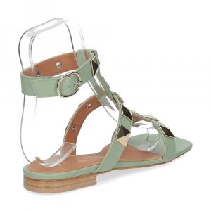 Il Laccio sandalo C108 pelle verde-5