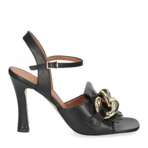 Il Laccio sandalo C306 pelle nero-2
