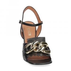 Il Laccio sandalo C306 pelle nero-3