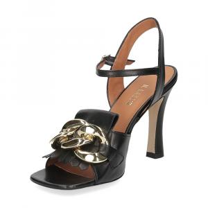Il Laccio sandalo C306 pelle nero-4