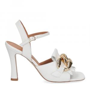 Il Laccio sandalo C306 pelle bianco-2