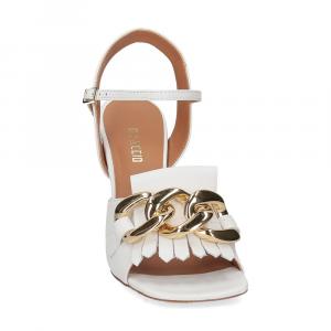 Il Laccio sandalo C306 pelle bianco-3