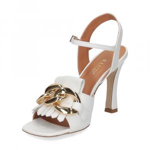 Il Laccio sandalo C306 pelle bianco-4