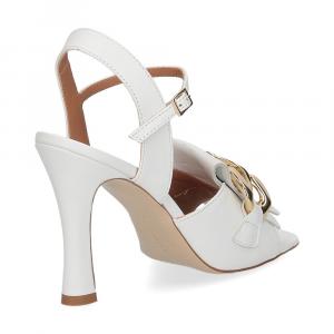 Il Laccio sandalo C306 pelle bianco-5