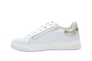 Sneaker logata in pelle