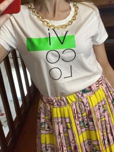 Tshirt Vicolo con collana catena