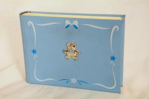 Album portafoto azzurro in similpelle