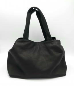 Borsa nera in pelle intrecciata Collection Privée