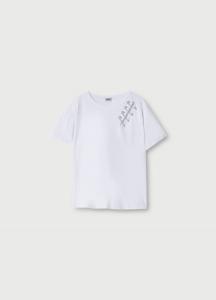 LIU JO WA1498J5003 T-shirt con spille gioiello