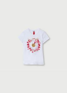 LIU JO WA1328J5003 T-shirt con stampa e applicazioni