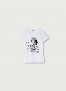 LIU JO  WA1321J5003 T-shirt con stampa e applicazioni