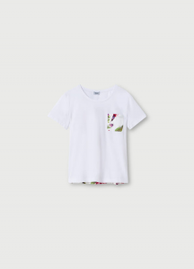 LIU JO WA1482J5972T9799 T-shirt con inserti stampati