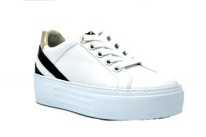 Sneaker platform in pelle