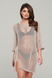 MERY - SHORT OPENWORK DRESS