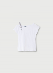 LIU JO WA1403J5703 T-shirt con strass