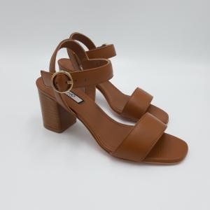Sandali con tacco color cuoio Liu Jo