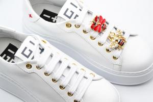 NOVITA' P/E 2021 Giò+ Calzatura Donna-Sneakers Pelle Bianca G716W
