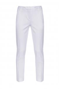 Pantalone Bello 100 cigarette-fit bianco Pinko