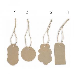 Confezione 40 tags in cartoncino color naturale