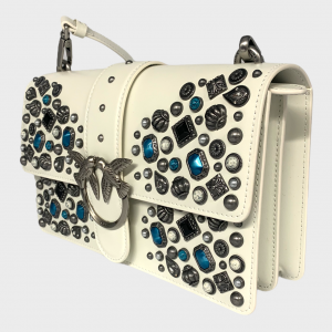 SHOPPING ON LINE PINKO CLASSIC LOVE BAG ICON ETHNIC STUDS NEW COLLECTION WOMEN'S SPRING SUMMER 2021
