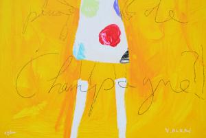 Alran Vincent Serigrafia Champagne Formato cm 65x54
