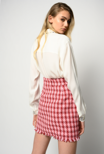 Camicia Rilassato bianca con borchie Pinko