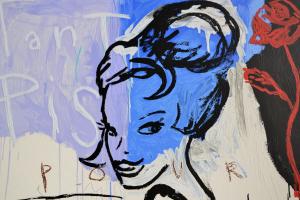 Alran Vincent Serigrafia Tant pis pour toi Formato cm 100x100