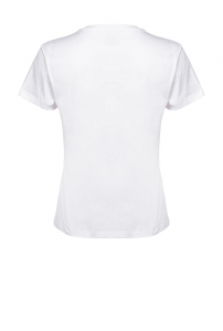 T-shirt Quentin 1 ricamo bianca Pinko