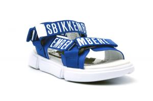 Sandalo logato triplo strap